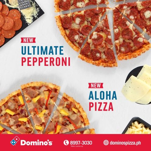 New Domino S Pizza Ultimate Pepperoni And Aloha Pizza Emm 15
